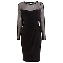 Buy Coast Reeva Jersey Short Dress, Black Online at johnlewis.com