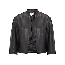 Buy Reiss Nela Cropped Leather Jacket Online at johnlewis.com