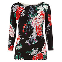 Buy Phase Eight Kaitlin Print Top, Black/Red Online at johnlewis.com