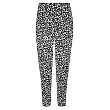 Buy Hobbs Mackay Trousers, Black/Ivory Online at johnlewis.com