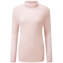 Buy Pure Collection Eardley Polo Jumper, Chalk Pink Online at johnlewis.com