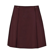 Buy Reiss Mini Fold Detail Skirt, Claret Online at johnlewis.com