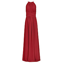 Buy Reiss Lark High Neck Maxi Dress, Crimson Red Online at johnlewis.com