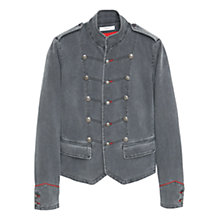 Buy Mango Buttoned Cotton Jacket, Grey Online at johnlewis.com