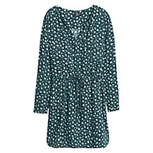 Buy Mango Flowy Printed Dress, Dark Green Online at johnlewis.com