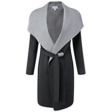 Buy Pure Collection Double Coat, Charcoal Online at johnlewis.com