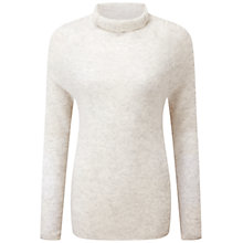 Buy Pure Collection Fairbourne Polo Jumper, Heather Frost Online at johnlewis.com