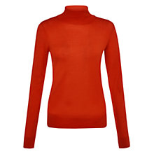 Buy Hobbs Lara Roll Neck Jumper, Hot Red Online at johnlewis.com