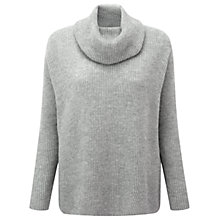 Buy Pure Collection Walcott Jumper, Heather Grey Online at johnlewis.com