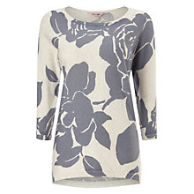 Buy Phase Eight Emely Print Jumper, Grey Online at johnlewis.com