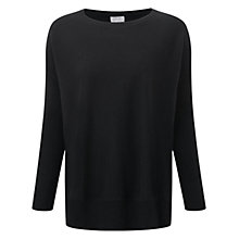 Buy Pure Collection Eastleigh Cashmere Poncho Jumper, Black Online at johnlewis.com