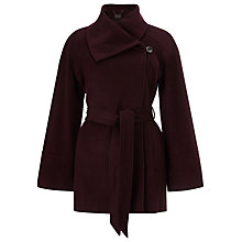 Buy Phase Eight Cape Coat, Blackcurrant Online at johnlewis.com