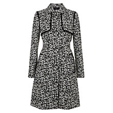 Buy Hobbs Mackay Trench Coat, Black/Ivory Online at johnlewis.com