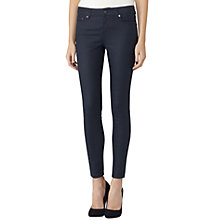 Buy Reiss Stevie Coated Low Rise Skinny Jeans, Blue Online at johnlewis.com