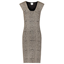 Buy Reiss 1975 Alfredo Knitted Dress, Black/Gold Online at johnlewis.com