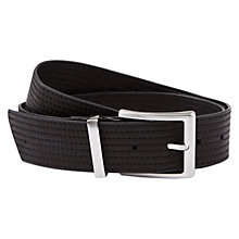 Buy Hobbs Leather Karen Belt, Black Online at johnlewis.com