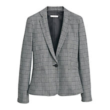 Buy Mango Check Suit Blazer, Grey/Black Online at johnlewis.com