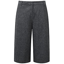 Buy Pure Collection Hamilton Wool Blend Culottes, Charcoal Texture Online at johnlewis.com
