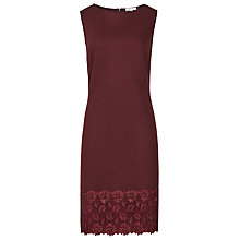Buy Reiss Issy Lace And Neoprene Dress, Claret Online at johnlewis.com