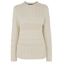 Buy Warehouse Craft Jumper, Cream Online at johnlewis.com
