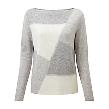 Buy Pure Collection Kelmscott Jumper, Grey Intarsia Online at johnlewis.com