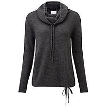 Buy Pure Collection Gassato Cashmere Cowl Neck Jumper, Heather Charcoal Online at johnlewis.com