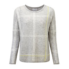 Buy Pure Collection Checked Gassato Jumper, Heather Dove Online at johnlewis.com