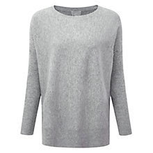 Buy Pure Collection Farndale Poncho Jumper, Heather Grey Online at johnlewis.com