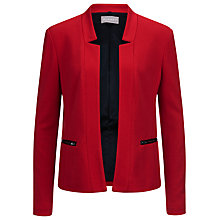 Buy Planet Ponte Jacket, Mid Red Online at johnlewis.com