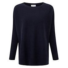Buy Pure Collection Gaskin Cashmere Poncho Jumper, Navy Online at johnlewis.com