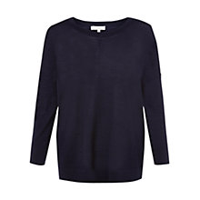 Buy Hobbs Keeva Wool Jumper, Navy Online at johnlewis.com