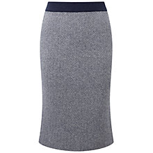 Buy Pure Collection Rainham Skirt, Navy Jacquard Online at johnlewis.com