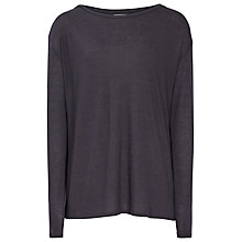 Buy Reiss Fernandez Jersey Long Sleeve Top, Night Navy Online at johnlewis.com