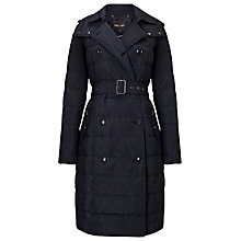 Buy Phase Eight Emmalee Double Trench Quilted Coat, Navy Online at johnlewis.com