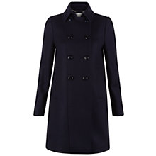 Buy Hobbs Evanna Coat, Navy Online at johnlewis.com