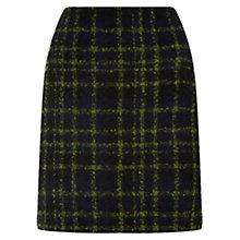 Buy Hobbs Acacia Check Skirt, Navy Online at johnlewis.com