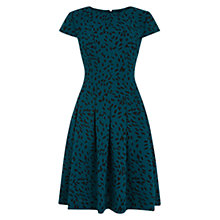 Buy Hobbs Lottie Dress, Sea Blue/Black Online at johnlewis.com