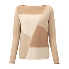 Buy Pure Collection Lambourn Jumper, Neutral Intarsia Online at johnlewis.com