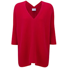 Buy Pure Collection Vernon Poncho Jumper, Pillarbox Red Online at johnlewis.com