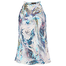 Buy Warehouse Embellished Marble Print Top, Multi Online at johnlewis.com
