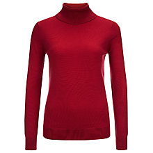 Buy Planet Roll Knit Jumper, Mid Red Online at johnlewis.com