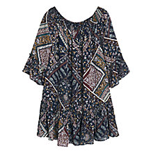 Buy Mango Floral Pattern Dress, Navy Online at johnlewis.com