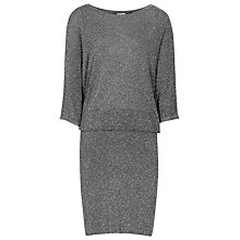 Buy Reiss Silver Knit Dress, Moonlight Online at johnlewis.com