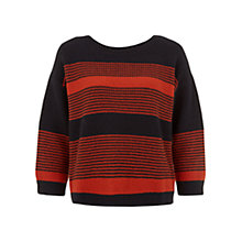Buy Hobbs Maria Jumper, Navy/Orange Online at johnlewis.com