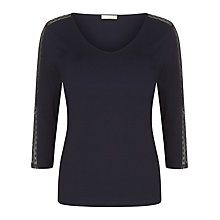 Buy Planet Textured Top, Navy Online at johnlewis.com
