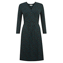 Buy Hobbs Mini Square Print Dress, Navy/Green Online at johnlewis.com