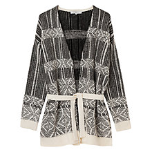 Buy Gerard Darel Buddy Jacquard Cardigan, Ecru Online at johnlewis.com