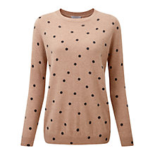 Buy Pure Collection Cashmere Boyfriend Sweater, Sesame/Heather Charcoal Online at johnlewis.com