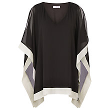 Buy Windsmoor Chiffon Tunic Top, Black/Oyster Online at johnlewis.com