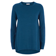 Buy Hobbs Kerry Merino Wool Jumper, Sea Blue Online at johnlewis.com